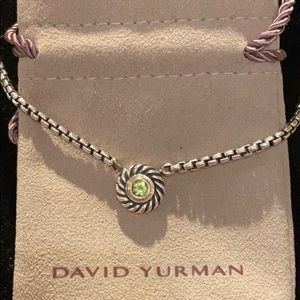 David Yurman SS/14K/Peridot Cookie Necklace